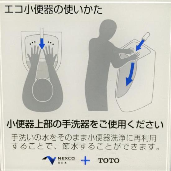 手洗い付小便器使い方