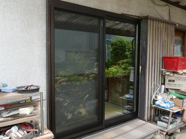 木製窓掃出しサッシュafter