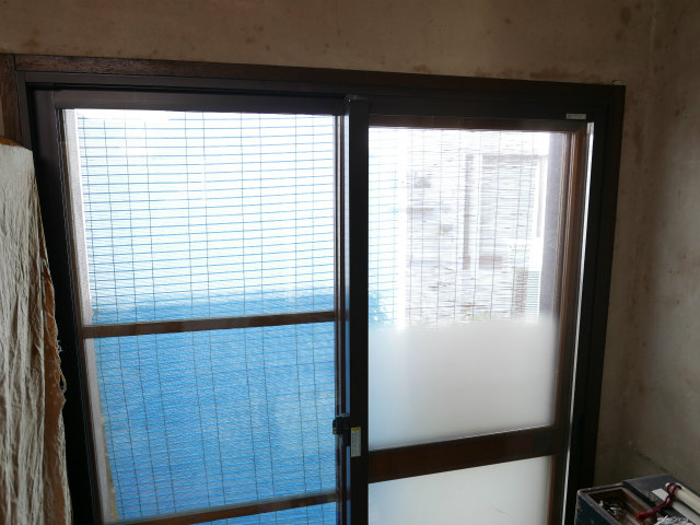 木製窓に内窓設置