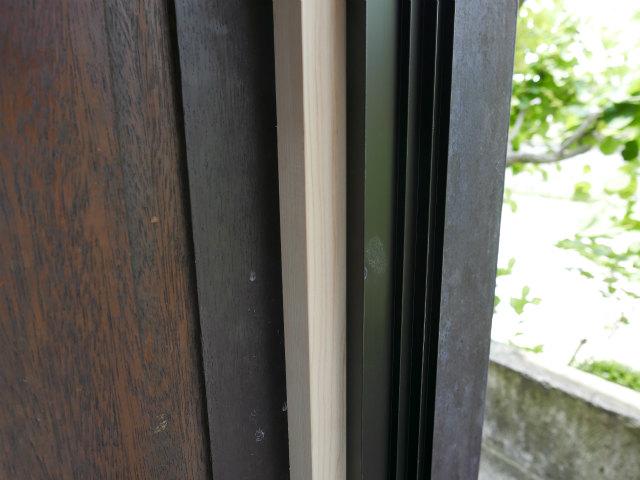 木製窓設置下地室内