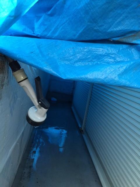 ベランダ漏水 水張り2