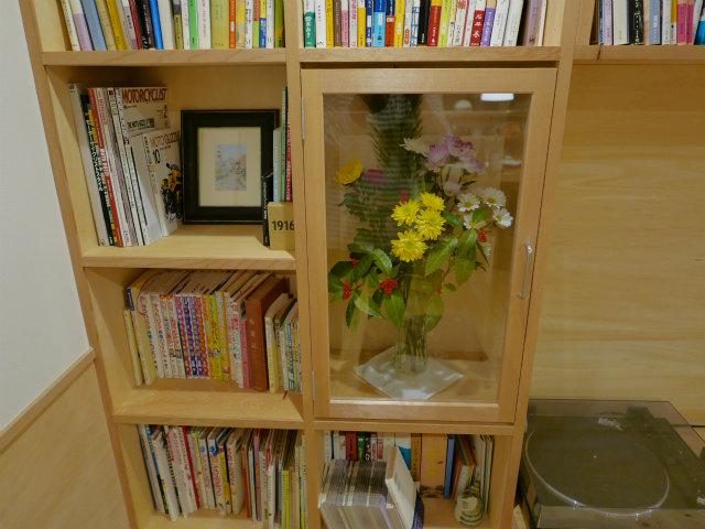 本棚花置き