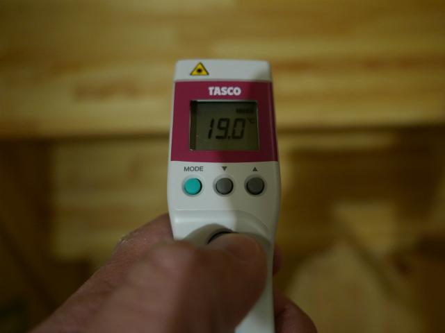 階段床温度